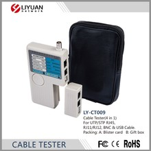 LY-CT009 Práctico <span class=keywords><strong>Red</strong></span> <span class=keywords><strong>de</strong></span> Cable Tester UTP/STP RJ45, RJ11/RJ12, <span class=keywords><strong>BNC</strong></span> y Cable USB.