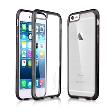 C&T Lightweight Transparent Crystal Clear PC back panel TPU bumper Case Cover For Iphone 6S
