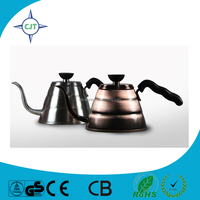 Heating speed high capacity Stainless steel Coffee Drip Kettle / Coffee Drip Pot