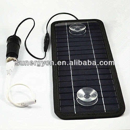 best quality and competitive price multi-function 12V 4.5W portable solar car battery charger