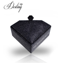 Diamond shape and Black sparkle packaging boxes necklace and earring gift box fancy multiple Jewelery Boxes DL0036