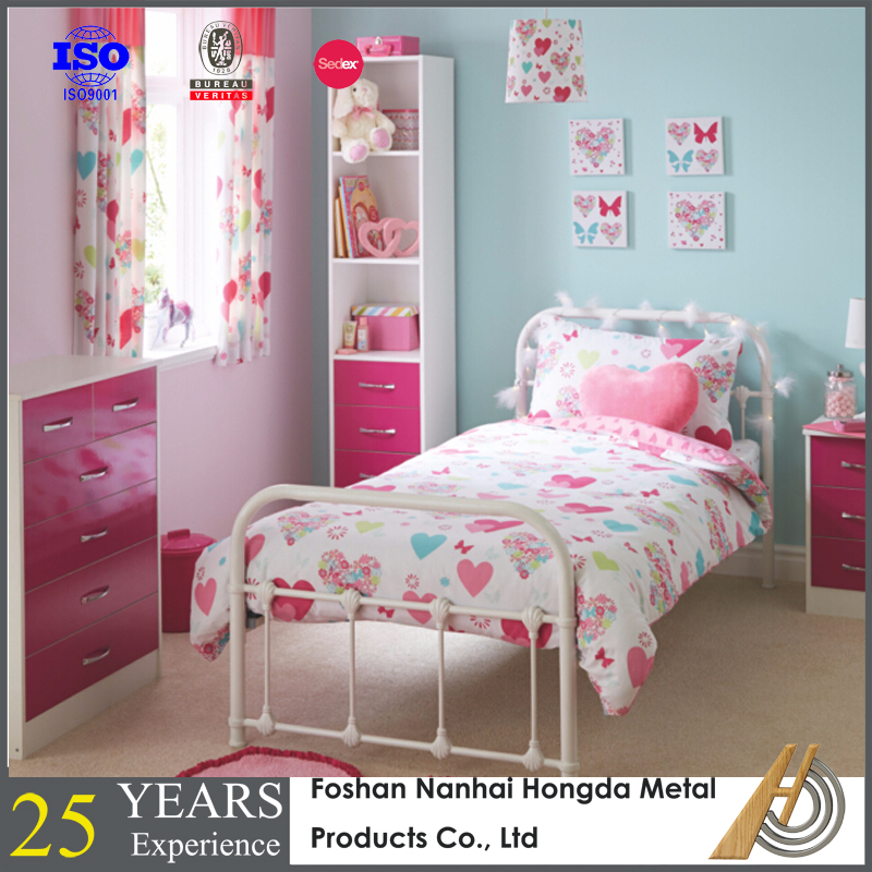 Cheap price kids metal bed bed room furniture for children