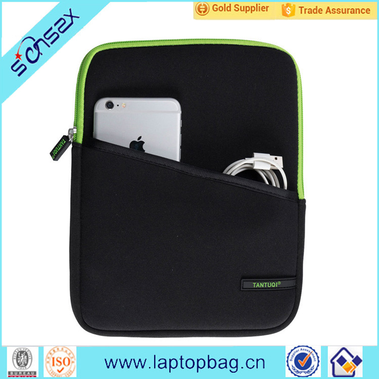 Black lightweight fashion neoprene laptop notebook sleeve bags