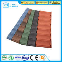 China roofing stone coated steel roofing tile used for house