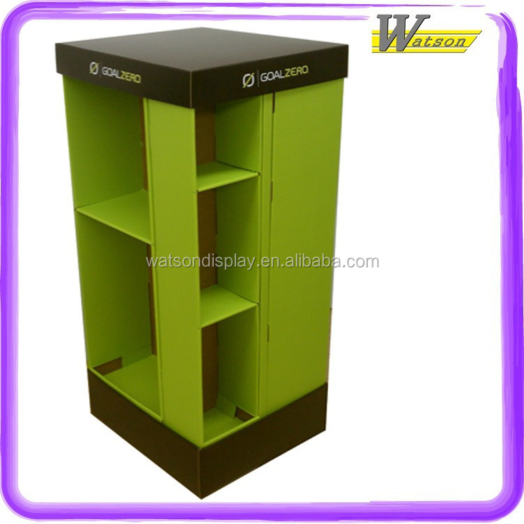 Power Battery Pack for electric scooters car cell ups battery Corrugated Quarter-Pallet Floor Cardboard Display Corrugated Stand