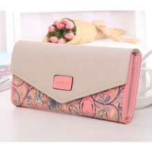 New Lady Leather Clutch Wallet PU Card Holder Purse Case Handbag Envelope Bag For Women