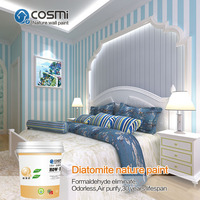 Interior wall paint / wall coating, ordorles and healthy paint