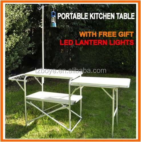 new aluminium portable folding camping kitchen table with lantern post buy folding camping table with lantern holderfoosball table with folding leg. beautiful ideas. Home Design Ideas