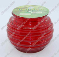 outdoor citronella glass jar candle
