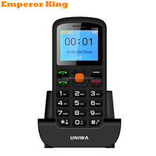 Charging Cradle Senior Kids Feature Keypad Mobile Phone 2G GSM Push Big SOS Large Button Key Cellphone Bluetooth 2.0