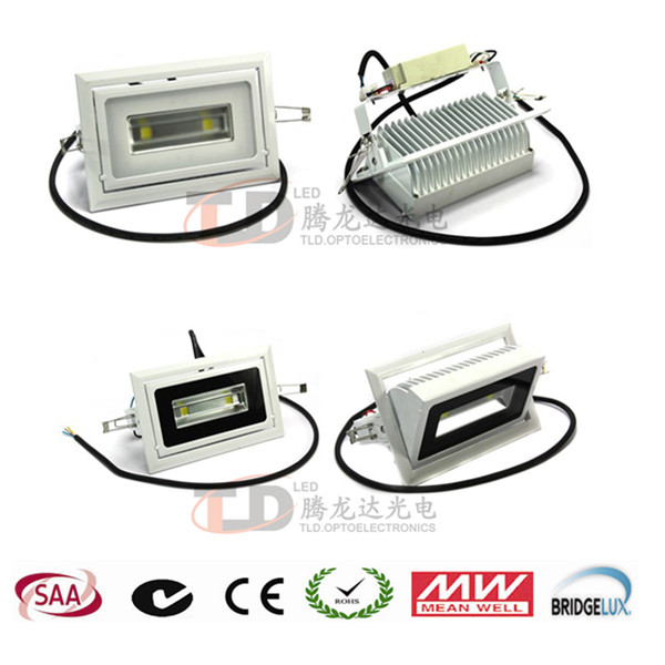30-50w rectangular led downlighter,commecial lighting led shop lighter