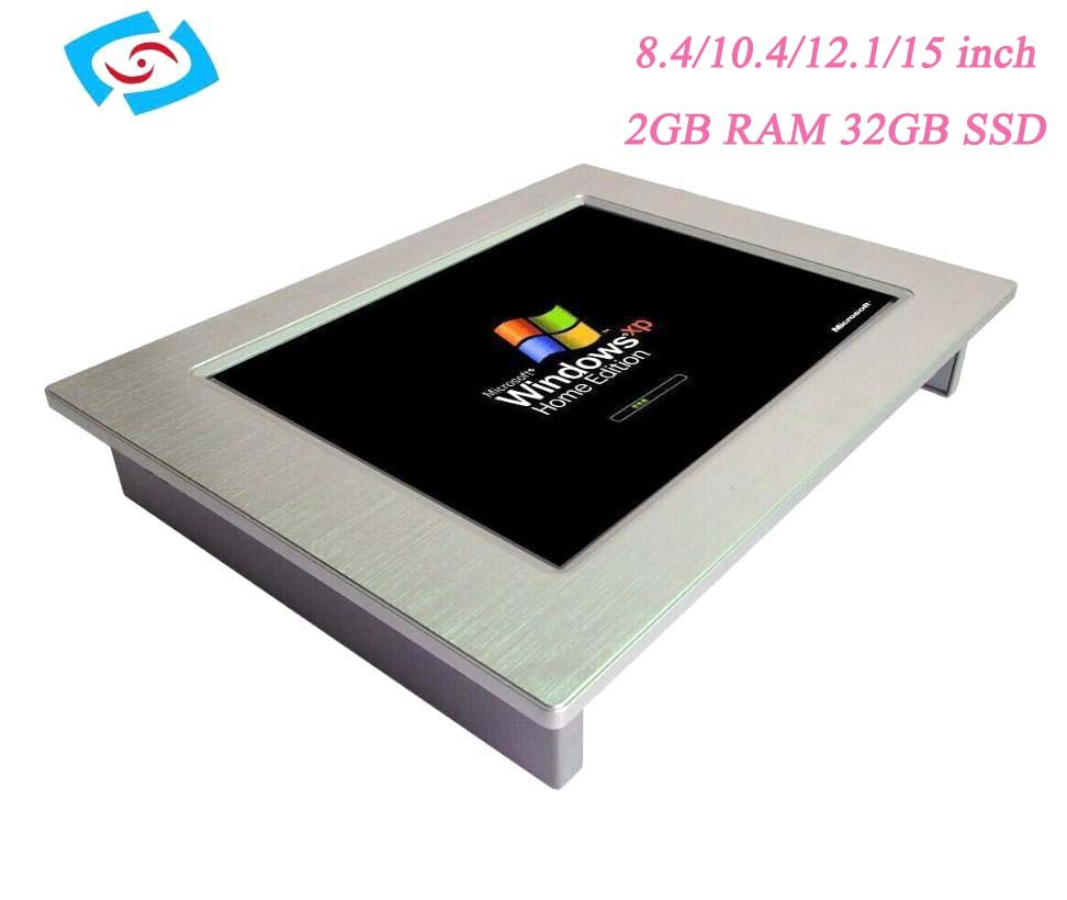 High quality --15 inch industrial touch screen panel PC, N2800 CPU, 2GB DDR3, 32GB SSD, supports wireless 3G/WIFI/GPS