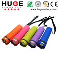 New designed in colorful plastic high quality promotional 1 Watt small LED zoom flashlight super beam torch