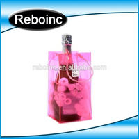Factory Promotional plastic pvc wine cooler bag