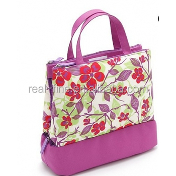 Beautiful flower printed travel floral makeup bag cosmetic bags