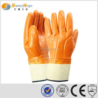 sunnyhope water and oil proof orange fluorescent safety pvc glove