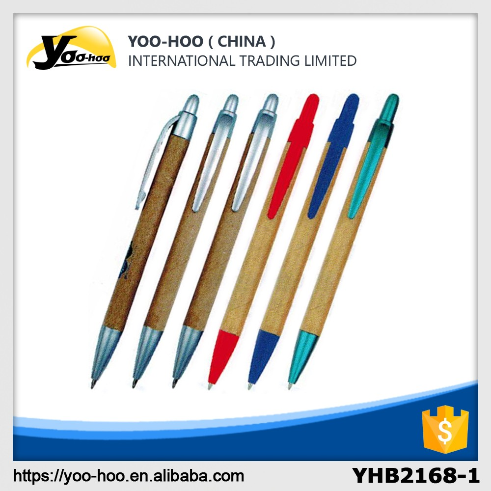 Promotional office plastic paper recycle ball pen