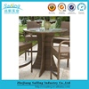 New Design Outdoor Pe Chicago Wicker Cheap Home Bar Furniture