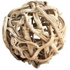 Bleached Vine Ball Wooden Craft