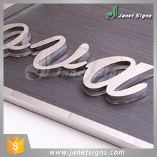 guaranteed quality 3d front led illuminated pretty looking stainless steel sign letter