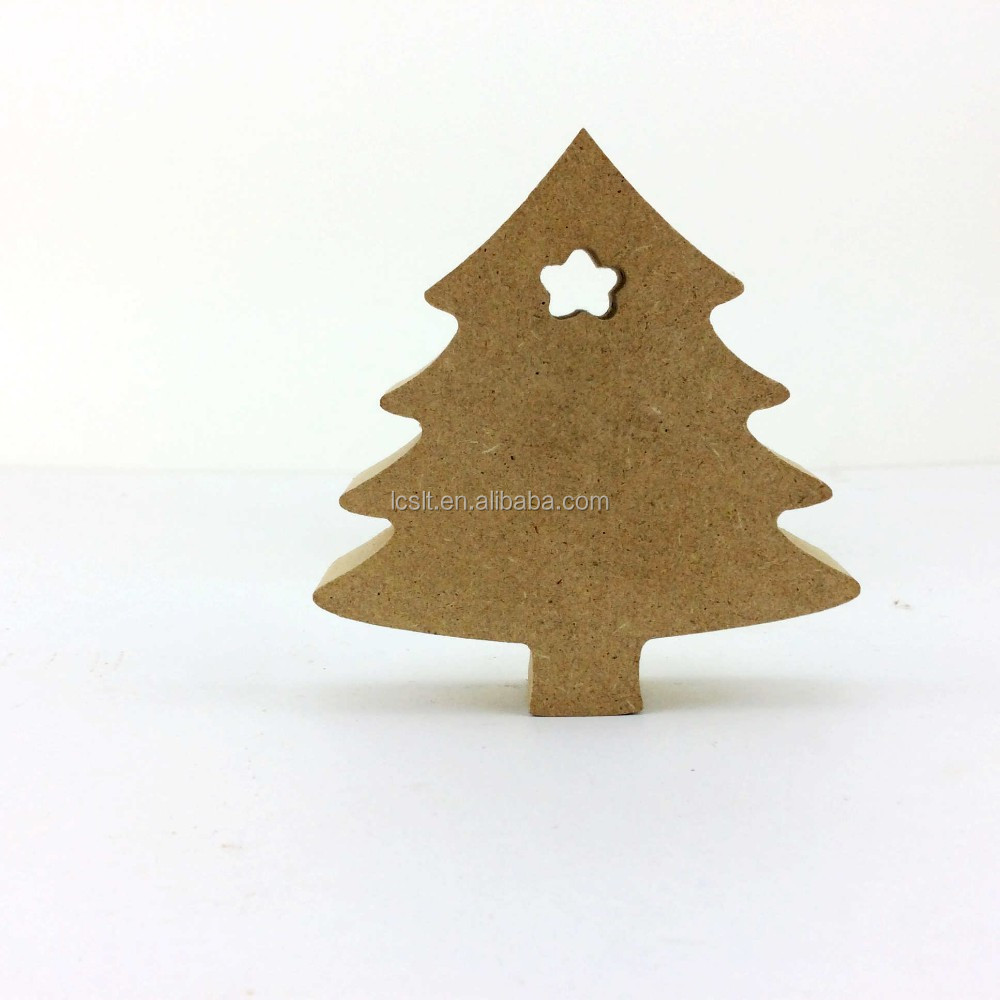 Christmas Decorations Gift Tags MDF Wooden Christmas Tree Decoration
