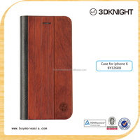 for iphone6 wallet wooden flip leather wood case