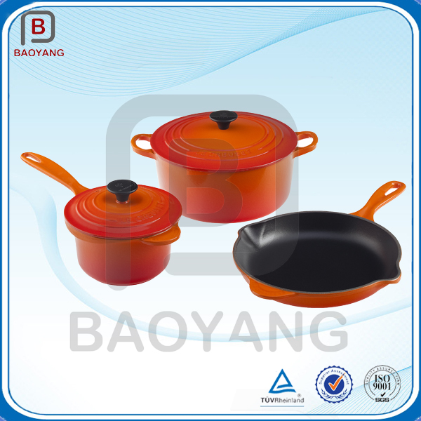 High quality Trade Assurance enamel cast iron cookware set