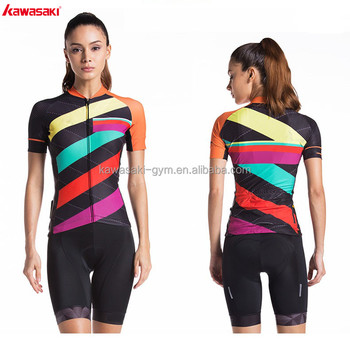 Professional custom private logo slim fit long sleeve cycling wear for women