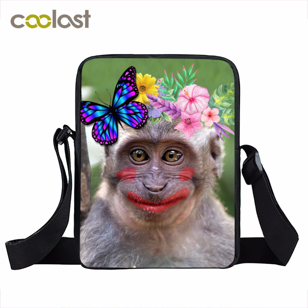 Lovely Monkey Mini Messenger Bag Women Crossbody Bag