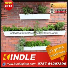 Kindle custom garden flower pot outdoor wall- mounted metal planters