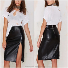 mature women sexy club mini leather skirt pictures pencil skirt in black