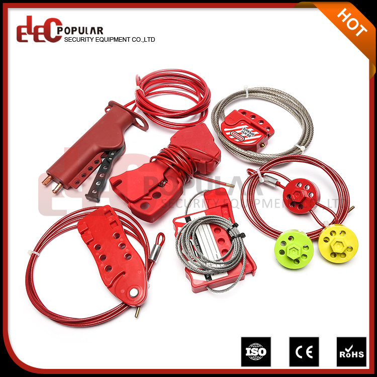 Elecpopular Alibaba Best Sellers Plastic Security Steel Cable Lockout Wire Safety Lock Manufacturers