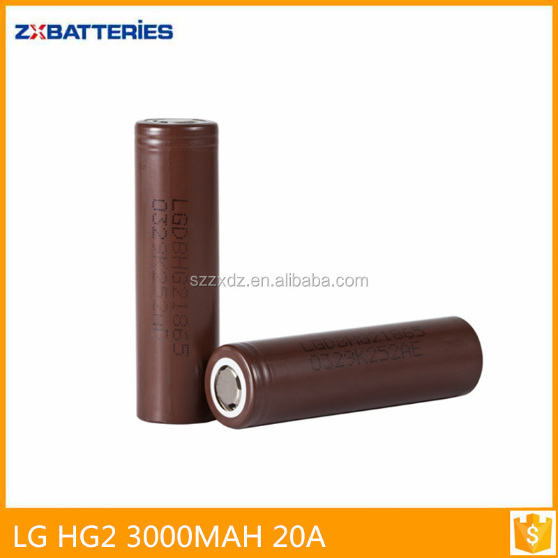 18650 LG hg2 3.7V 3000mah rechargeable battery for power tools/E-cig battery