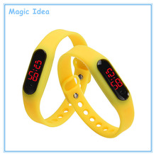 15 Colors Available Ultra Thin Sports Red LED Rubber Silicone Wrist Watch