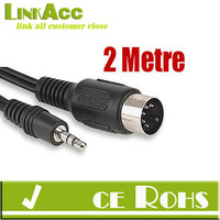 Linkacc1c13b DIN 5 PIN MIDI JACK to 3.5MM STEREO JACK CABLE