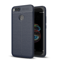 Mobile Phone Case Carbon Fiber Soft TPU Silicone Brushed Anti-knock Back Cover for Xiaomi A1 Mi5X