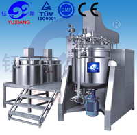 RHJ hydraulic lifiting tilt discharge vacuum emulsifying glow in the dark nail polish making machine