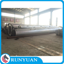 Factory electric pole with Hot Hip Galvanization used for gsm antenna towers