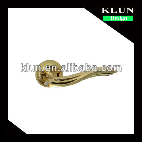 Special design zinc alloy Gp Finish door lock handle ,Bent handle style klz38