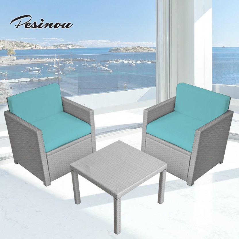 best choice simple design hot-selling beach wicker sofa rattan oval coffee table and sofa set