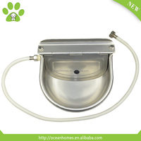 Automatic stainless steel water troughs for pets, automatic dog water bowl