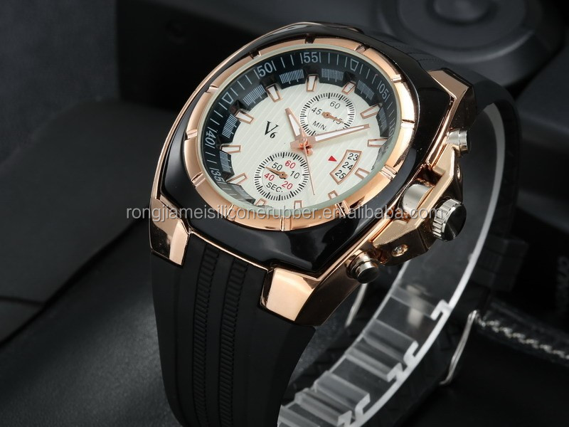 Fashion Casual V6 Watches Men Luxury Brand Analog Sports Gold Watch
