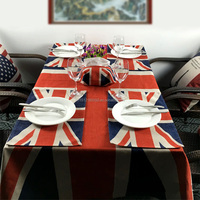 Decorative 4-Seats Polyester/Cotton Rectangle/Square Dining Table Cloth