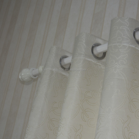 NEW ARRIVAL 100% polyester embroidery window curtain