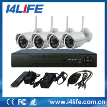4ch cheap home security camera systems 4 pcsnvr ip camera and nvr cheap wireless surveillance kit