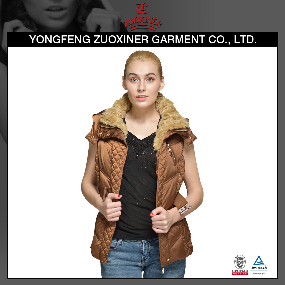 wholesale cheap women vest for winter sleeveless jackets, latest padded waistcoat designs for women