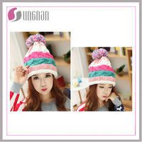 Winter Hooded Scarf Earflap knitted hat in cheap price