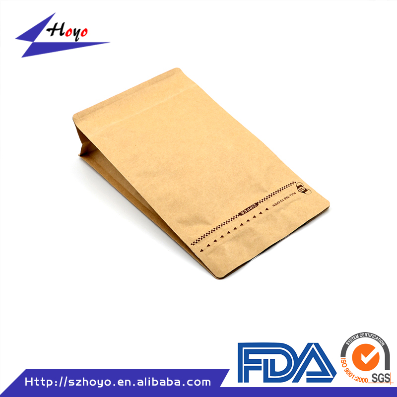 Zip Lock Kraft Paper Bag For Coffee Beans/ Top Quality Kraft Bag With Foil Lining