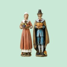 Studio Thanksgiving Pilgrim Resin Figurines - 2-Piece Set