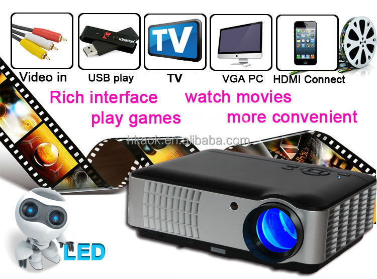 2015 new 4200 lumen intelligent Android 4.4.2 OS HD projector, wireless WIFI Internet access, home theater lcd projector